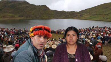 Comunicador Indígena César Estrada & Elita Yopla. Imagen compuesta.
