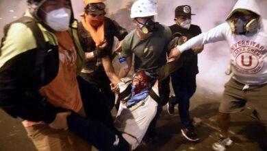 Joven herido durante protestas