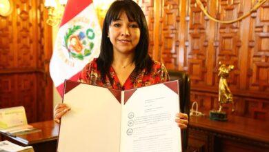 Mirtha Vásquez Chuquilín, presidenta del Congreso de la República.