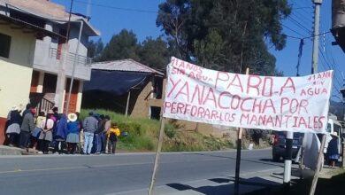 Protesta contra Yanacocha. Foto. Radio Lider de Cajamarca