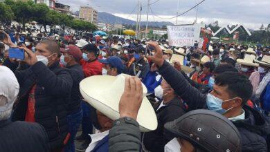 Rondas campesinas protestan contra el Poder Judicial. Foto: David Teran Ayay