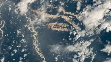 Fotografía de la NASA sobre Madre de Dios, Perú, 24 de diciembre del 2020. NASA. ISS