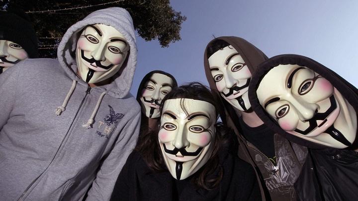 Grupo de Anonymous.