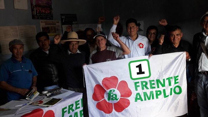 Juan Chilón candidato del Frente Amplio