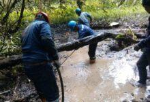Monitores ambientales de la federación indígena OPIKAFPE. Fuente.Observatorio Petrolero Puinamudt.