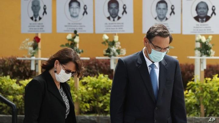 Pilar Mazzetti y Martín Vizcarra