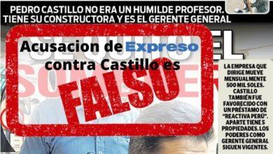 Acusación contra Pedro Castillo