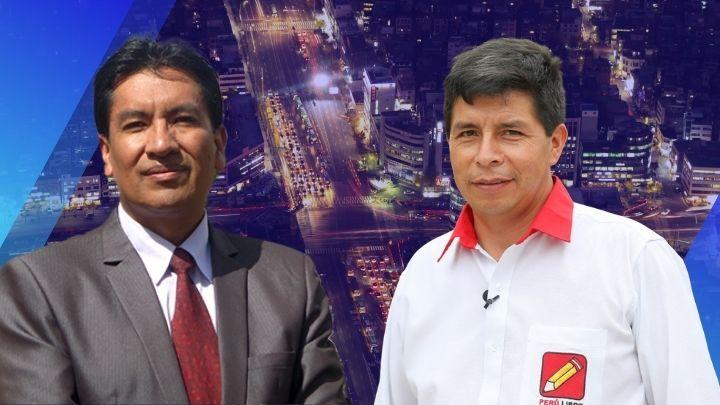 Juan Cadillo y Pedro Castillo. Composición Diario Perú