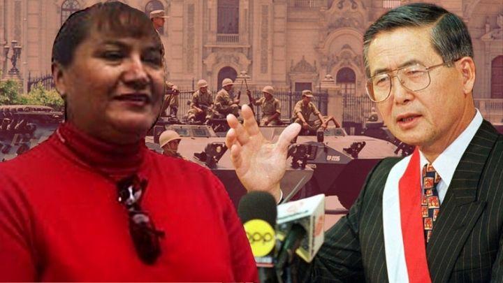 Sonia Sanchez y Alberto Fujimori. Composición Diario Perú