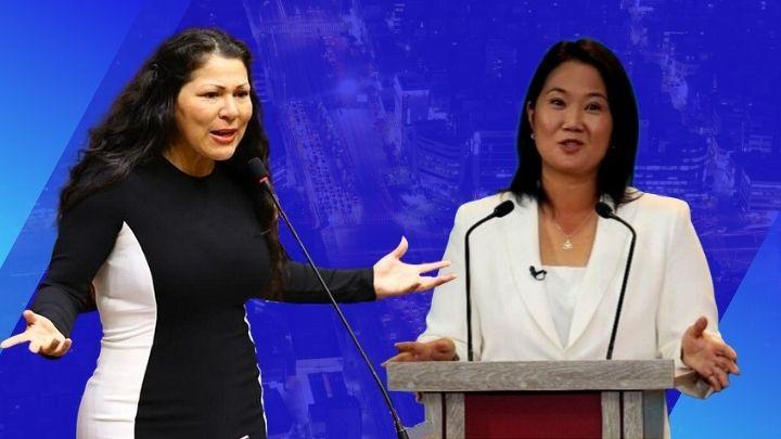 Yesenia Ponce a Keiko Fujimori. Composición Diario Perú.