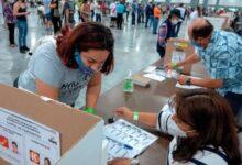 Peruanos sufragan en Miami Estados Unidos. Foto. EFE. Imagen referencial